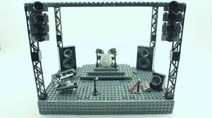 stage speakers setup. how to build a lego stage for rock concert in stop-motion (stage from the guilty club - wating) youtube speakers setup d