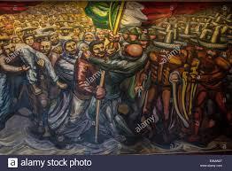 giant mural by mexican artist david alfaro siqueiros chapultepec castle mexico city mexico