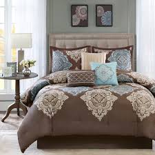 madison park monroe brown bed linens