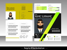 Modern Elegant Font For Resume Resume Template Colorful Modern Elegant Decor Free Vector In