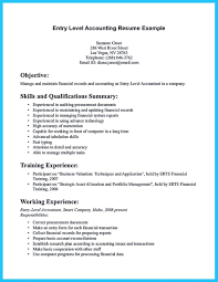 Sample For Writing An Accounting Resume Objective Entry Level