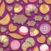 Bakery Fabric Wallpaper Gift Wrap Spoonflower