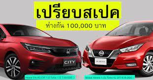 เปรียบสเปครุ่นท๊อป! Honda City RS Vs Nissan Almera VL ราคาห่างกัน 100,000  บาท - CAR250 รถยนต์รถใหม่ ข่าวสารรถยนต์ รถใหม่ล่าสุด เปิดตัวรถใหม่ ราคา รถใหม่