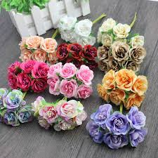 Daisy Paper Flower Us 0 45 35 Off 6 Pcs Lot Cheap Mini Silk Daisy Artificial Rose Flowers Bouquet Diy Wedding Decoration Paper Flower For Scrapbooking Flower In