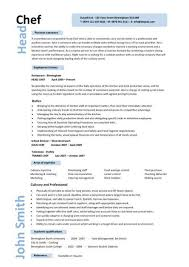 Gallery Of Chef Resume Example