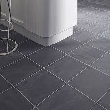 Kitchen Floor Tiles Bq Leggiero Silver Blue Slate Effect Laminate Flooring 172 Ma2 Pack