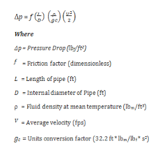 fluid pressure equation. revit uses the following formula to calculate pressure drop: fluid equation i