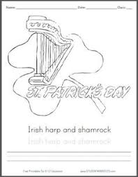 Small Picture Saint Patricks Day Shamrock Coloring Page for Kids with