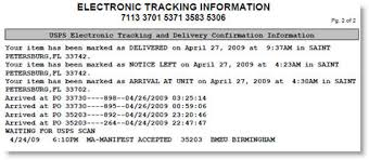 Certified Letter Tracking Levelings