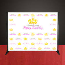 happy birthday customized banners details about sweet sixteen 16 birthday custom banner party photo backdrop big 8 x 10 ft