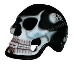 reaper 3d skull matte black helmet