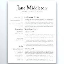 Modern Minimalist Resume Free Template Modern Resume Templates Modern And Minimalist Resume Template For