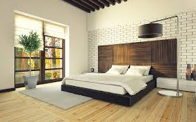 modern bedroom concepts: white brick wall modern bedroom design