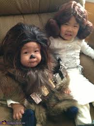 baby chewbacca and little leia costume at costume works com
