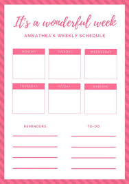 Week By Week Planner Customize 181 Weekly Schedule Planner Templates Online Canva
