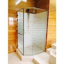 corner shower glass partition work