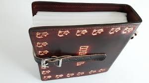 custom made leather cd case