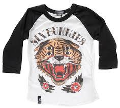 Six Bunnies 4 Eyes Kids Raglan T Shirt