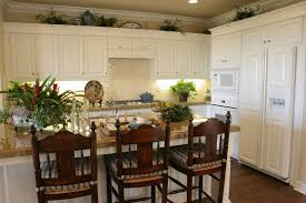 Kitchen, Dark Cabinets With Light Granite Countertops Kitchens Leather  White Chairs Grey Metal Single Bowl