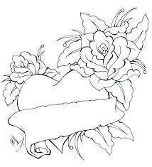 765x839 heart and rose coloring pages heart and roses coloring pages roses