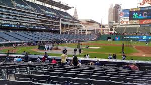 it s difficult for a visiting team fan to find a better spot than right behind the visitors dugout along the first base line at progressive field
