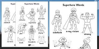 › orion word find (elementary) (2.3 mb pdf). Superhero Themed Words Colouring Sheet Teacher Made