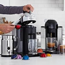 Typically, these devices are used in cafes or in the homes of those. Nespresso Vertuo Coffee Maker Espresso Machine With Aeroccino Milk Frother Williams Sonoma