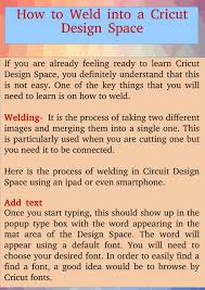 Learn Cricut Design Space How To Weld Into Cricut Design Space By Svg Salon Issuu