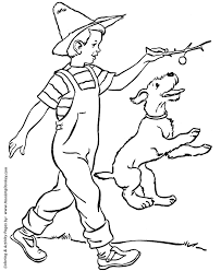 Small Picture Dog Coloring Pages Printable Farm Doggie coloring page sheet and