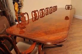 mesa de jantar nogueira regency pedestal mesas cadeiras móveis inglês 18 pessoas ebay