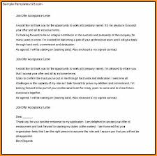 mailing letter format offer letter acceptance mail format example