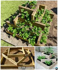 tiered planter box how to build tower raised garden bed ideas instructions 3