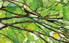abstract nature paintings green google search