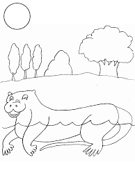 Otter Animals Coloring Pages Coloring Page Book For Kids