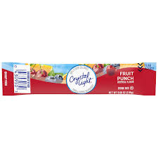 Crystal Light Shake It Off Crystal Light Sugar Free Fruit Punch Powdered Drink Mix Caffeine Free 0 09 Oz 10 Count Pack Pack Of 6