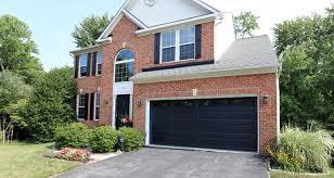 black garage doorInsulated Thermacore Garage Door  Black Long Panel Design