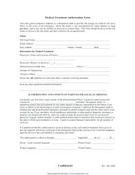 Letter Authorization Form Medical Consent Release Childrens Template ...