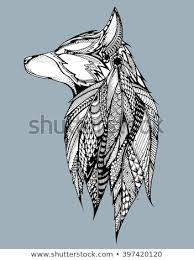 wolf howling drawing head. Beautiful Head Profile Wolf Howling Portrait Of A Stylized Dog Head On Wolf Drawing Head