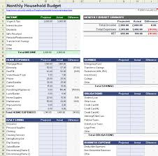 large templates budgeting templates for excel monthly household budget large capable