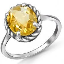 Купить <b>кольцо</b> с цитринами из серебра по низкой цене ...