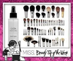 beauty tip of the week makeup brush 101