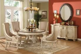 dining room design round table. Stylish And Comfy Dining Room With Banquette Bench : Classic Design Small Round Table