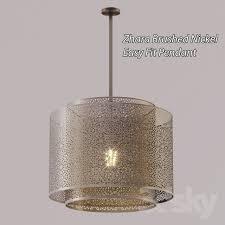 chandelier zhara brushed nickel easy fit pendant