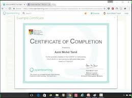 how to make a certificate of completion how to create an e certificate for your open learning course youtube