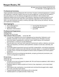Visiting Nurse Resume Cover Letter Registered Nurse Examples