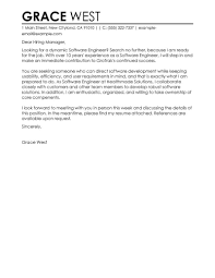 Cover Letter Software Engineer Best Software Engineer Cover Letter Examples LiveCareer 1