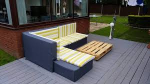 Diy Pallet Outdoor Lounge DIY Pallet Sectional Sofa Tutorial