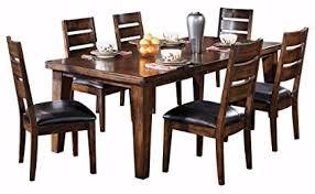 ashley furniture signature design larchmont dining room table old world style burnished dark