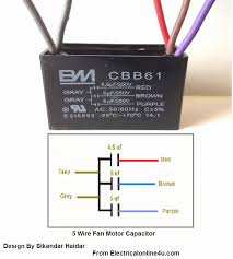 5 wire ceiling fan capacitor c61