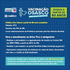 Osasco antecipa vacinação de idosos com 80 anos ou mais em Drive Thru -  Jornal Metrópole